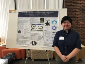 Tya Chuanromanee presenting their research at Kettering Homecoming 2018